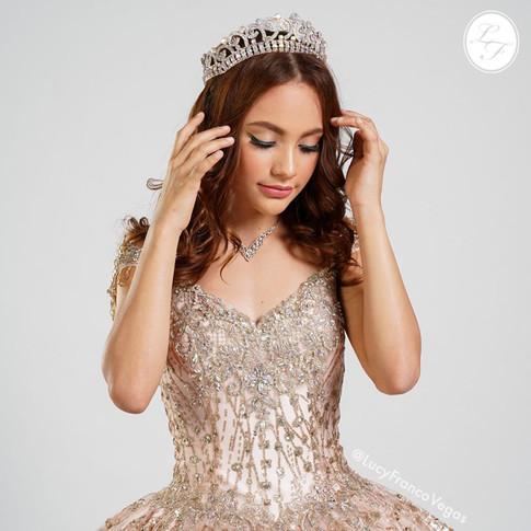 Vestido de Quinceanera Rose Gold