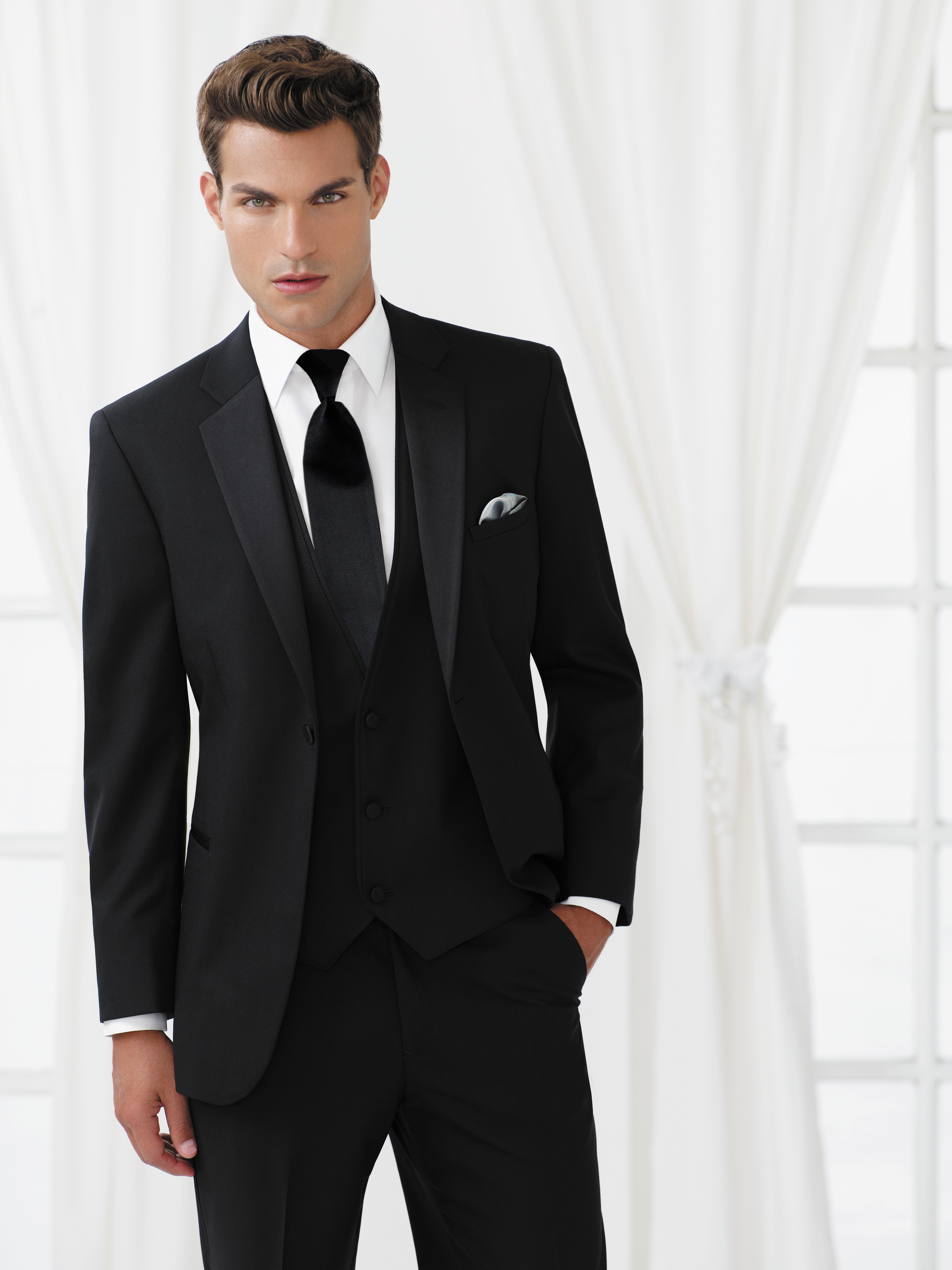 Black infinity Modern Fit Tux