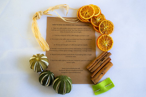 Dried Cinnamon, Orange and Lime Garland DIY Kit - Handmade