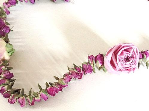 Pretty Rose Garland - Handmade