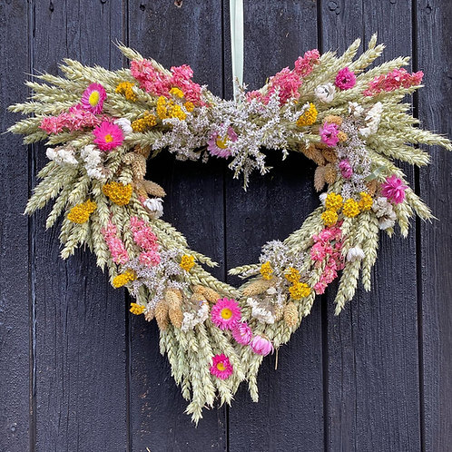 Beautiful Heart Summer Wreath - Handmade