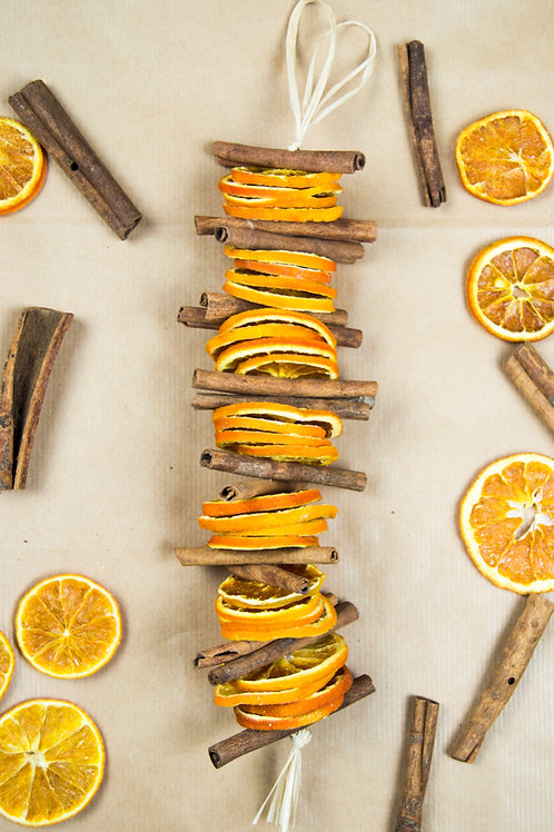 Dried Cinnamon and Orange Garland - Handmade