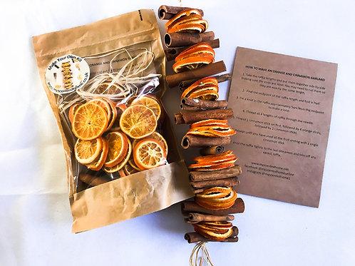 Dried CInnamon and Orange Garland DIY Kit - Handmade