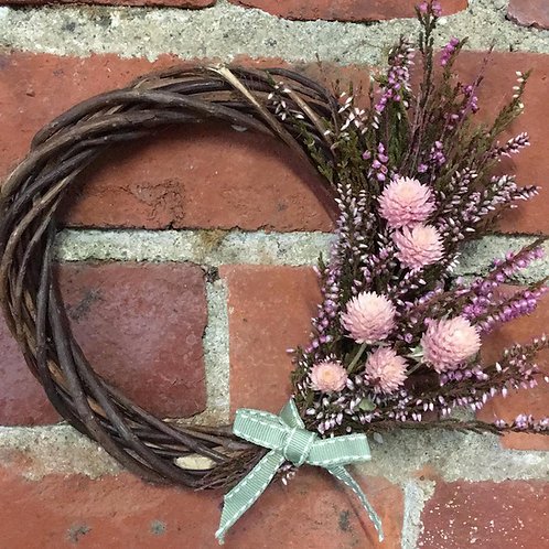 Dried Clover and Heather Wreath