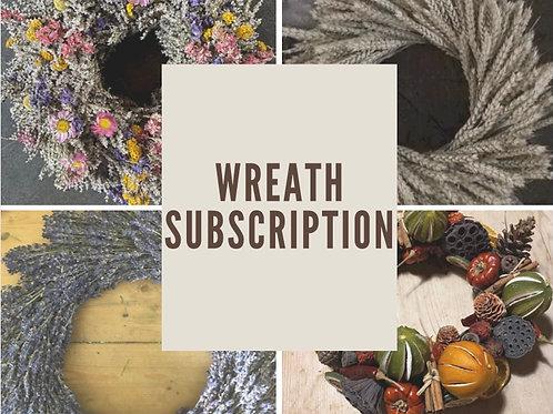 Wonderful Wreath Subscription - Handmade