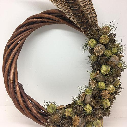 Dried Seed Head Wreath