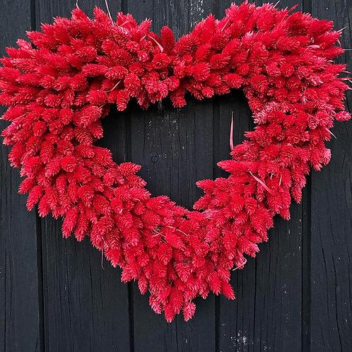 Dyed Red Phalaris Wreath