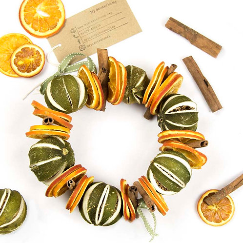 Dried Fruit Wreath - Handmade