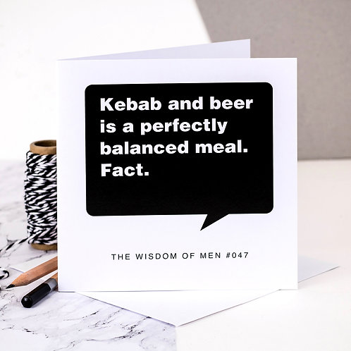 Kebab And Beer Birthday Card For Men
