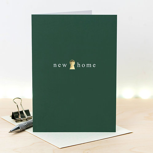 New Home Metallic Gold Foil Card x 6