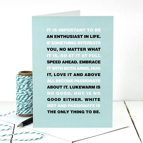 Roald Dahl Motivational Quote Card