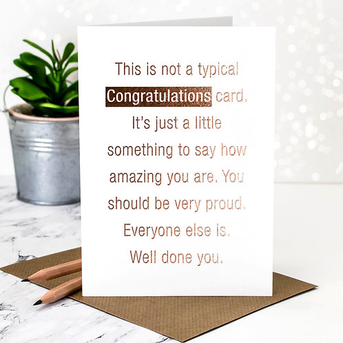 Rose-Gold Foil Congratulations Card x 6