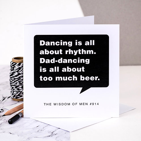 Funny Birthday Card For Dad Dancing Men