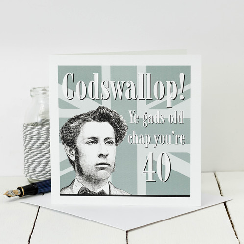 40th birthday card codswallop personalised gifts cards made in 40th birthday card codswallop bookmarktalkfo Image collections