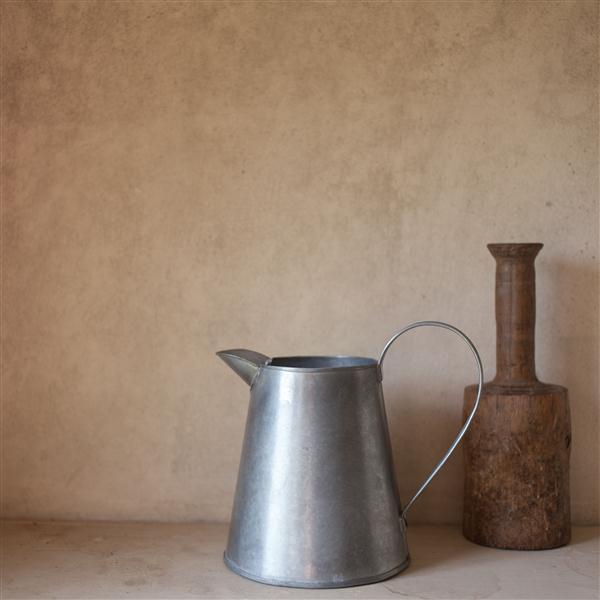 antique style grey metal jug