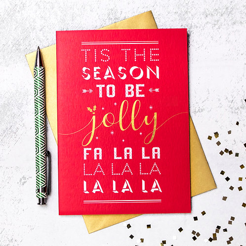 Deck The Halls Christmas Carol Card
