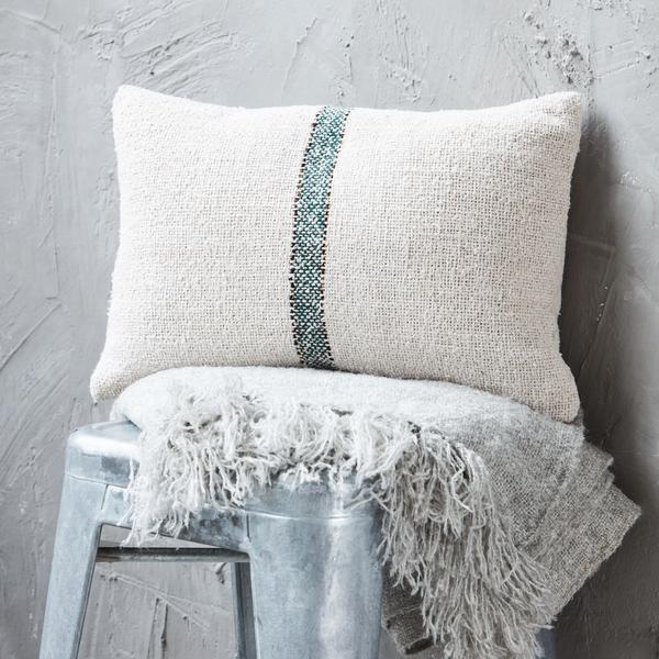 cotton weave stripe pillowcase