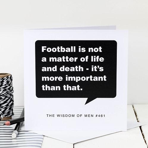 Birthday Card For Football Fanatics x 6
