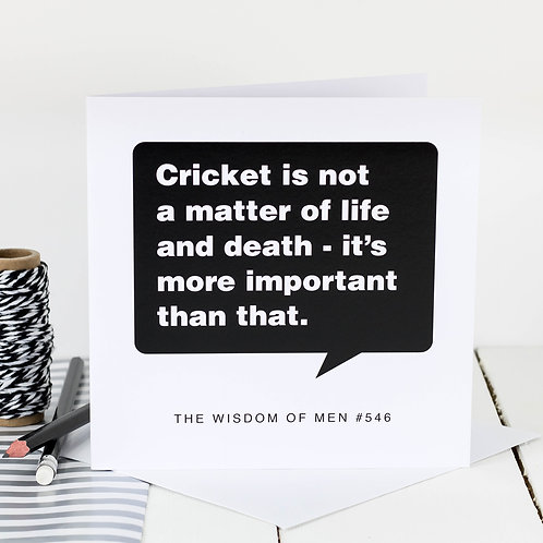 Birthday Card For Cricket Lovers x 6