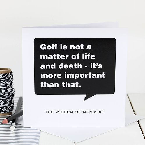 Birthday Card For Golfers x 6