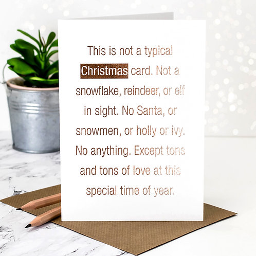 Rose-Gold Foil Christmas Card