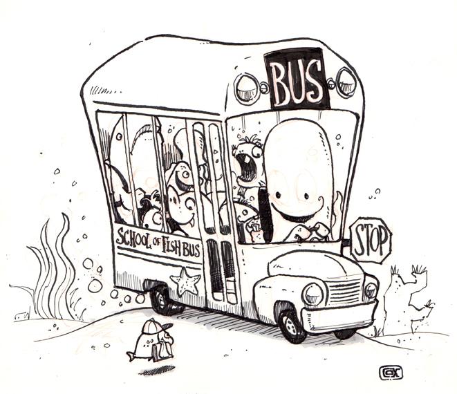 School of Fish Bus