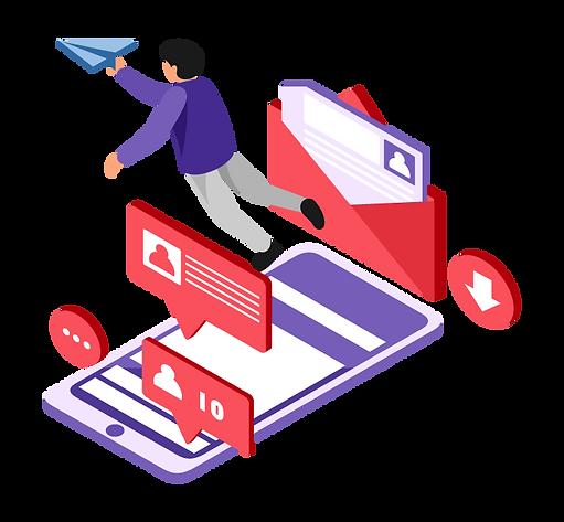 Isometric-Send-Mail-Online-Vector-Illust