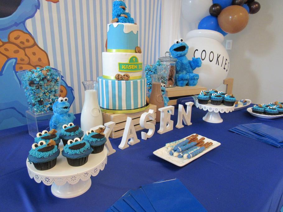 Cookie Monster Dessert Table Detailed Sh