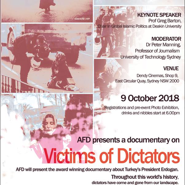 Invitation to the award-winning documentary film 'Erdogan: The Dictator's Republic'