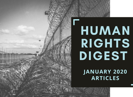 Human Rights Digest: January 2020 Articles