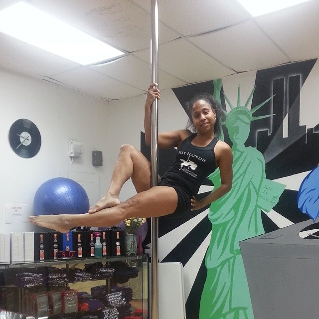 Pole fitness at jus hip hop Thursday 8_3