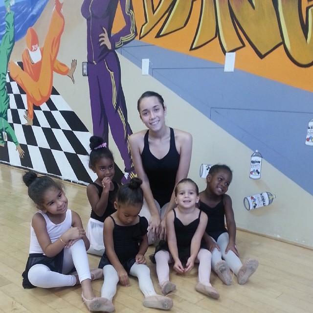 Ballet with tots today #daddyslittlegirl