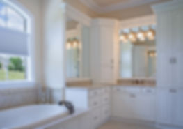 Master bath painted cabinets and granite tops