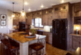 Showplace Renew cabinet refacing, large kitchen with island