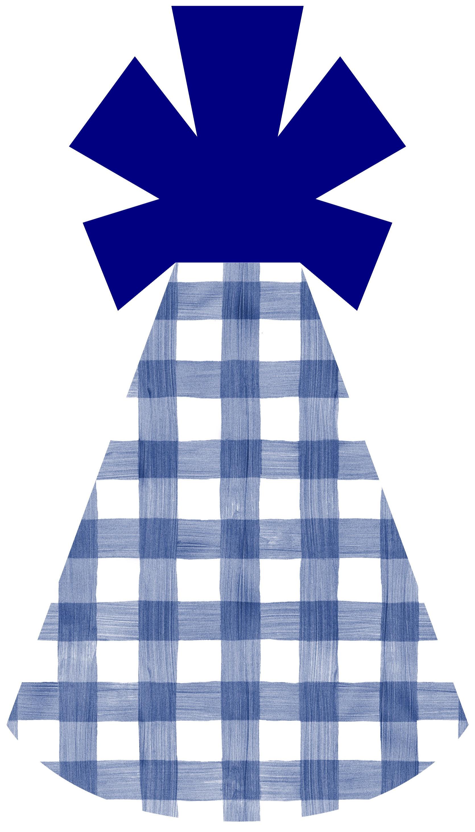 Blue Gingham Hat