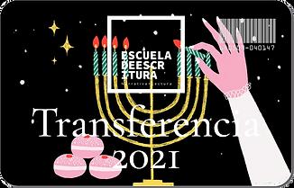 Tarjeta de Regalo. Taller de Escritura. Escuela de Escritura: Transferencia de Conocimientosegalo Transferencia 2021 G.p