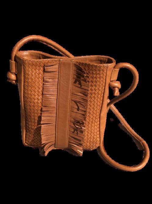 JAAFAR - Hand braided leather Cognac