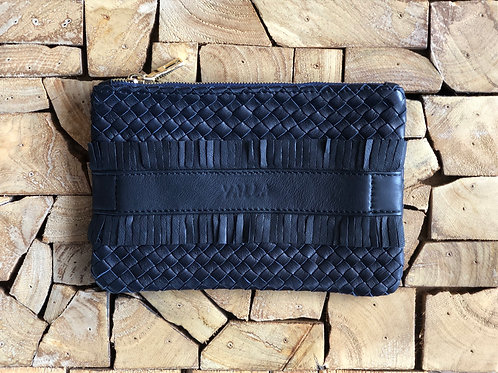 ZAKI hand braided Navy leather