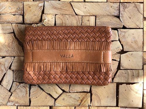 ZAKI hand braided cognac leather
