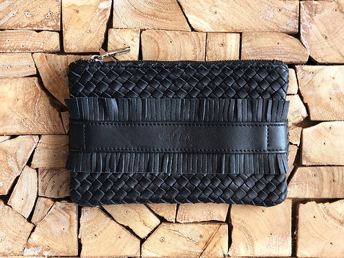 ZAKI hand braided black leather