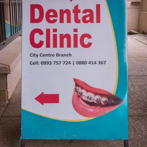 City Centre sign post