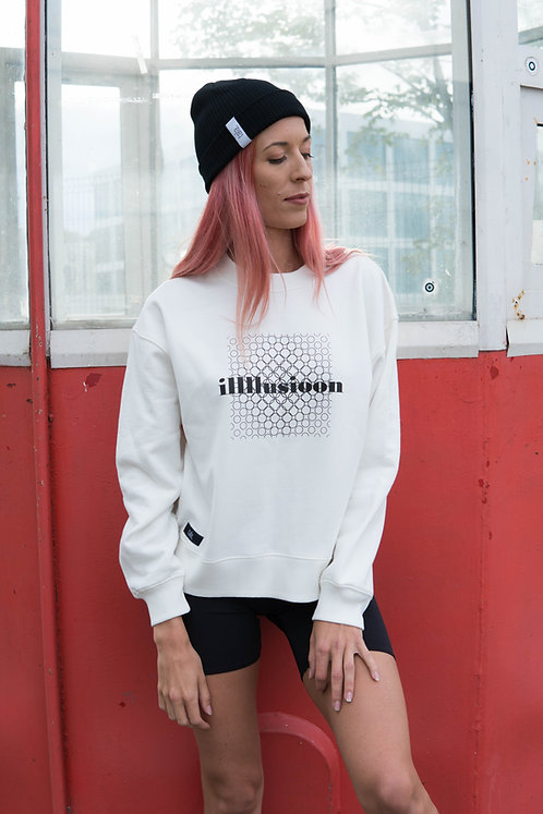 Women's Organic Cotton dropped shoulder Sweatshirt Illusion