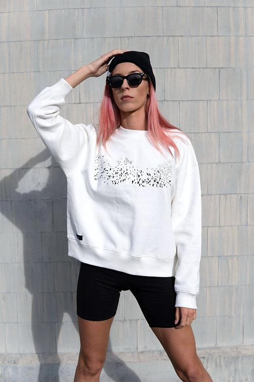 Women´s Organic Cotton dropped shoulder sweatshirt Birds