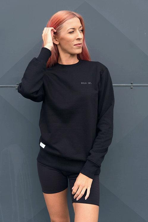 Organic Cotton Sweatshirt All OK black, Unisex