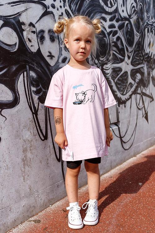 Children Organic Cotton T-shirt Kitty, Unisex