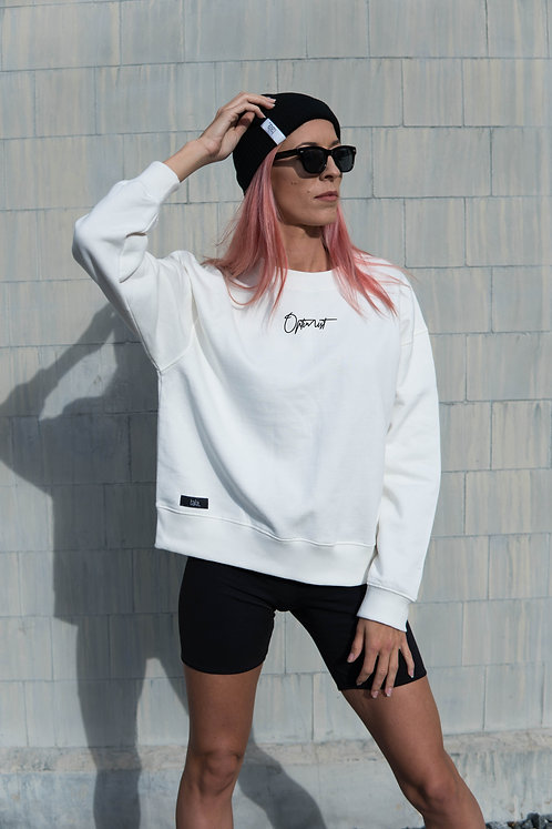 Women´s Organic Cotton dropped shoulder sweatshirt Optimist