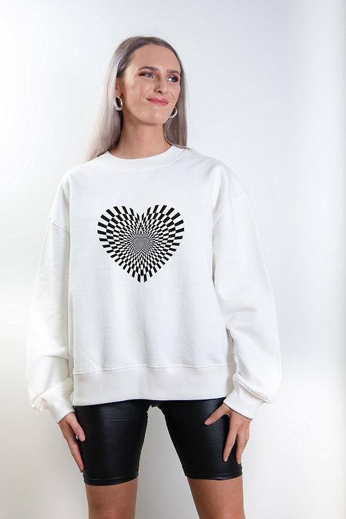 Women´s Organic Cotton dropped shoulder sweatshirt Heart
