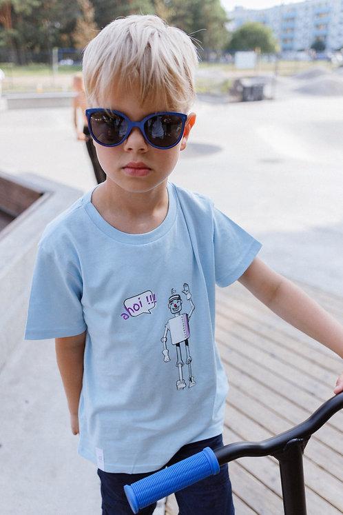 Children Organic Cotton T-shirt Robot, Unisex