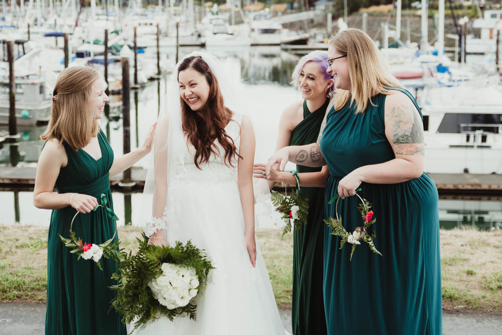 Bride & Bridesmaids // Squalicum Boathouse Wedding