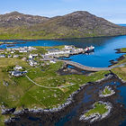 Aerial image of Lochboisdale harbour South Uist
